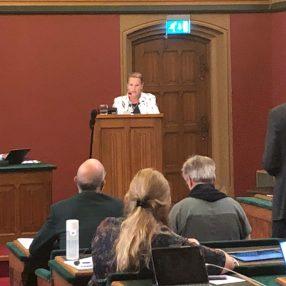 Bea Bijlsma heeft haar eerste speech in Provinciale Staten gehouden